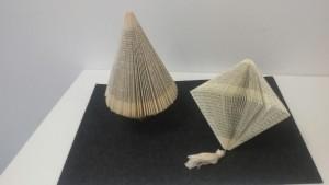 Papierkunst: Tannenbaum, Lampion
