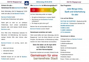 Flyer Programm Aktionstag 16